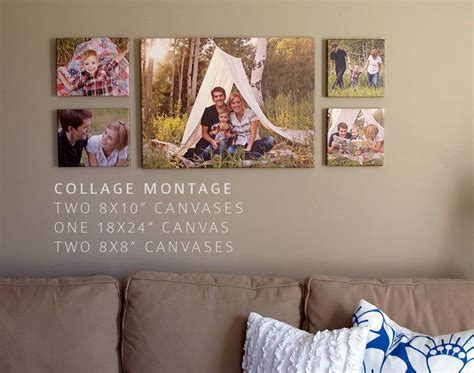 how to create a wall collage canvas wall collage decorate with canvas collages how