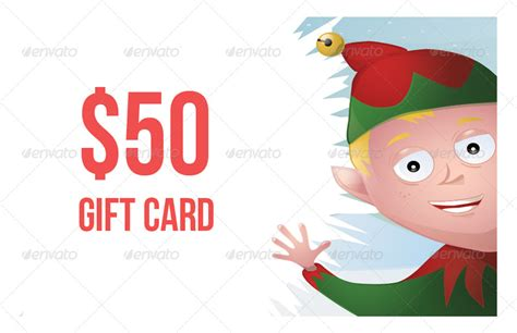 Elf Gift Card - christmas elf gift card by aterlier graphicriver