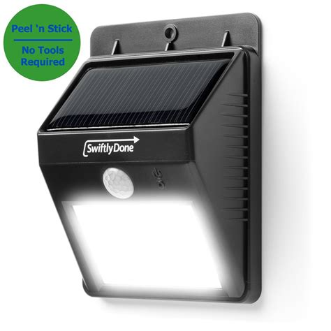 solar powered motion detector lights swiftly done bright outdoor led light solar energy