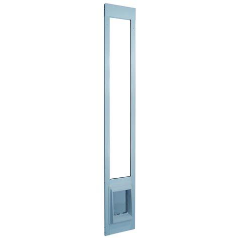 electronic patio pet door shorty white