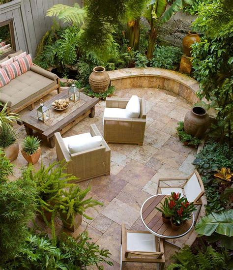 small backyard relaxing design corner