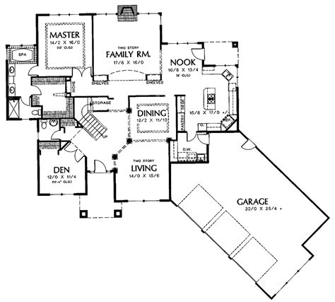 House Plans With Angled Garage by Floor Plans Aflfpw01414 2 Story New American Home With 3
