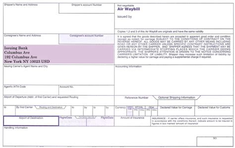 Consignee Definition Of Letter Of Credit How To Complete Consignee And Notify Fields On An Air