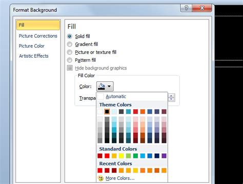 slide layout master definition how to change powerpoint presentation to use black slide