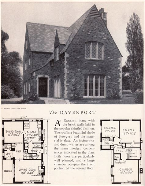 tudor house plans 1920 s davenport house plan american residential architecture