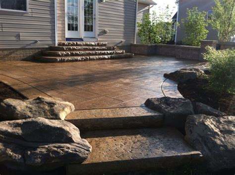 24 Amazing Stamped Concrete Patio Design Ideas
