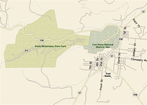 map of fort davis texas big bend country fort davis map