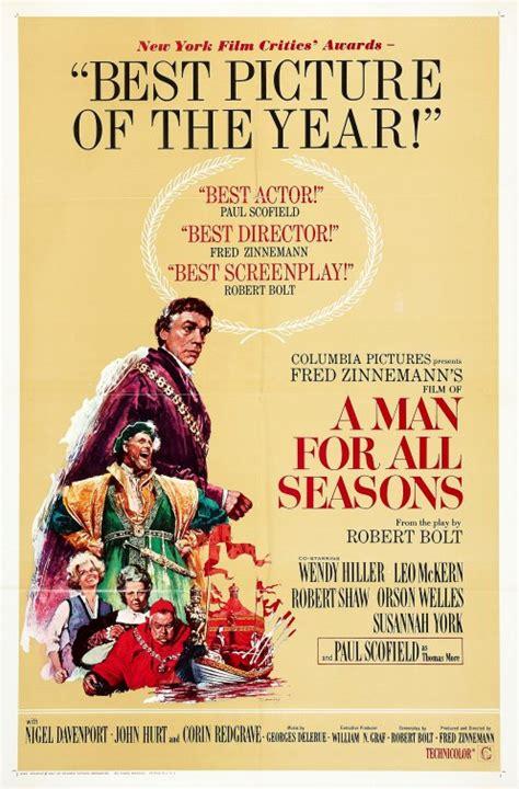 Man Seasons 1966 Film A Man For All Seasons Movie Poster 2 Of 2 Imp Awards