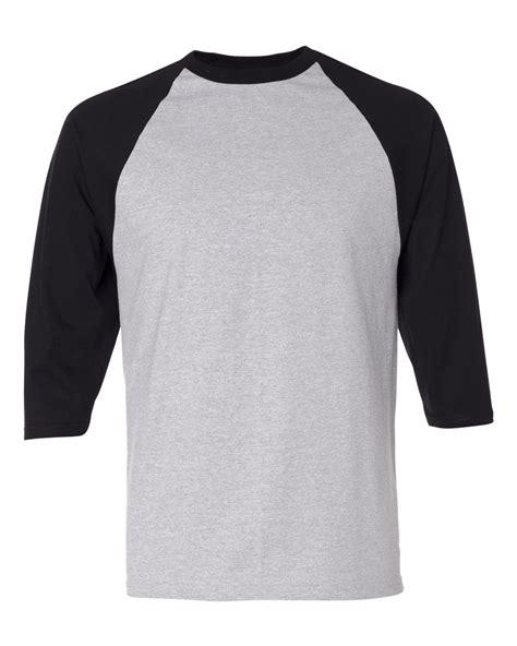 Tshirt Raglan Black anvil mens 3 4 sleeve baseball jersey t shirt raglan team sizes s 2xl 2184 ebay