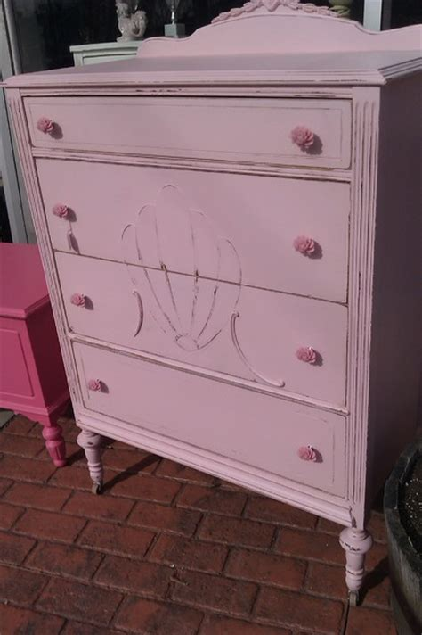 antique dresser shabby chic distressed pink by www