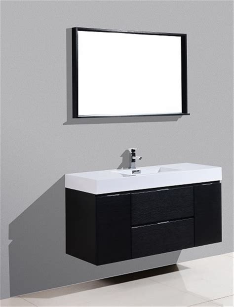 black wall mount sink bliss 48 quot black wall mount single sink modern bathroom vanity