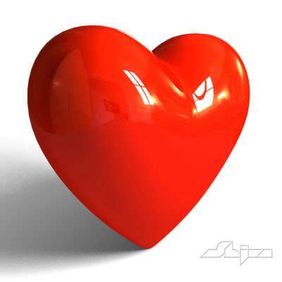 3d hearts 3d model