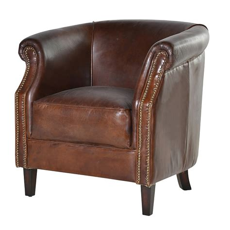 Vintage Leather Tub Chair vintage leather tub chair armchair traditional 163 790 00