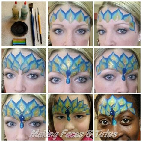 watercolor tutorial face easy peacock face painting tutorial by cameron garrett