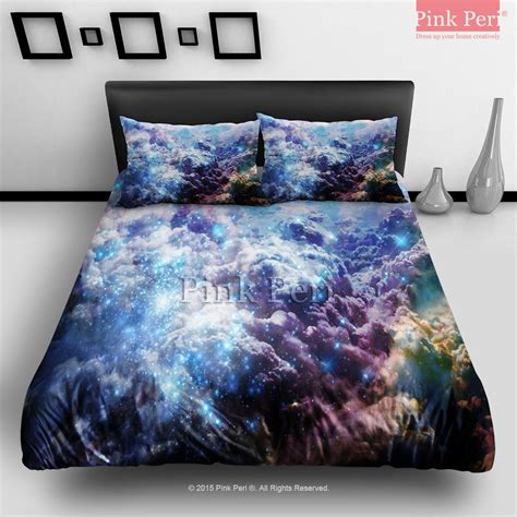 galaxy bedding full blue galaxy cloud bedding sets home from pink peri bedding