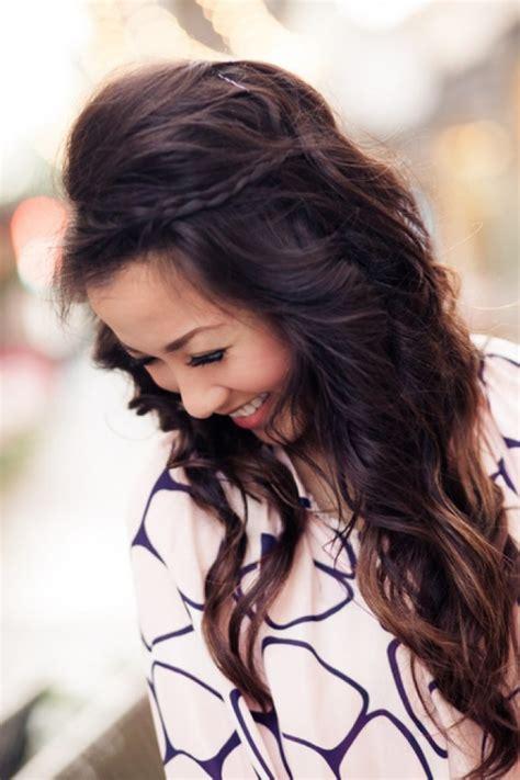 simple hairstyles  long hair pretty designs