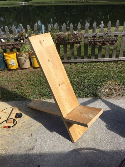 board minimalist chair woodworking wood working