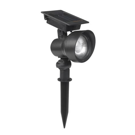 Outdoor Solar Flood Lights Led Shop Portfolio 12x Black Solar Led Landscape Flood Light At Lowes