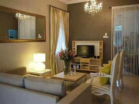 dekorasi ruang tamu rumah teres kos rendah desainrumahidcom
