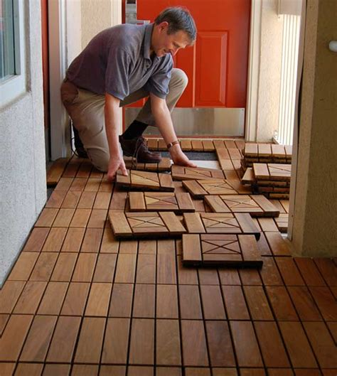 how to install handydeck interlocking deck tiles