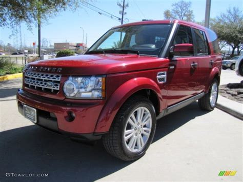 red land rover lr4 firenze red metallic 2012 land rover lr4 hse exterior