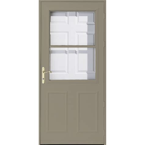pella retractable screen door shop pella olympia putty high view safety retractable screen storm door common 36 in x 81 in