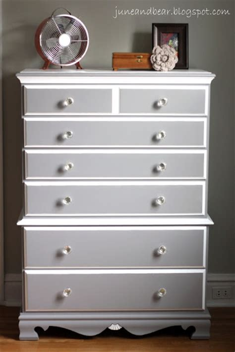 White And Grey Dresser by Diy Painted Wood Dresser With Sherwin Williams Grey