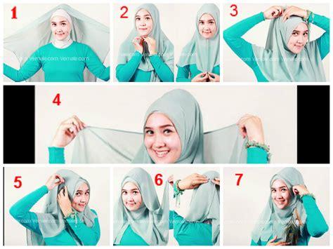 tutorial cara berhijab segitiga tutorial hijab segi empat untuk wajah bulat www imgkid