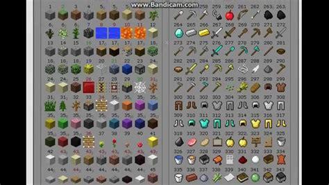 minecraft block items id 1 5 ready