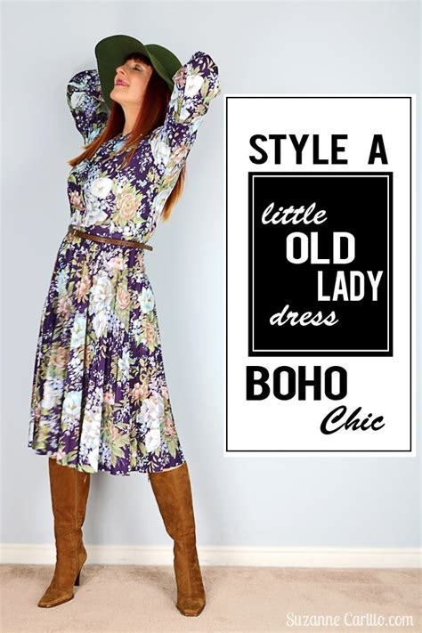 classic boho chic lady of style style a little old lady dress boho chic suzanne carillo