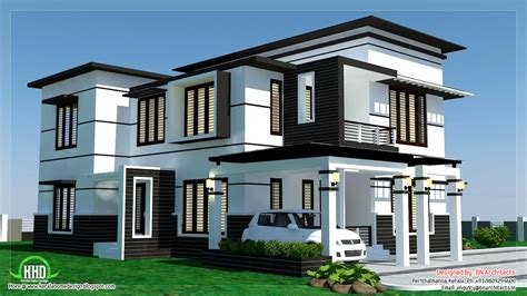 house plans contemporary 2500 sq feet 4 bedroom modern home design kerala home