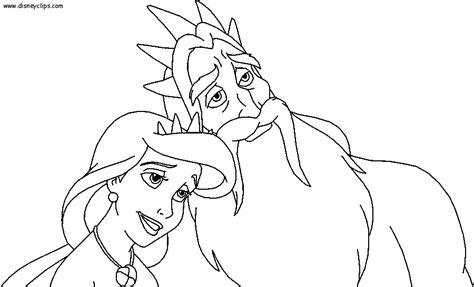 little mermaid king triton coloring pages little mermaid king triton coloring page sketch coloring page