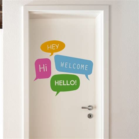 welcome wall sticker welcome wall decal stickers for doors 4make coolwallart