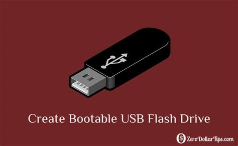 create bootable usb flash drive using command prompt to