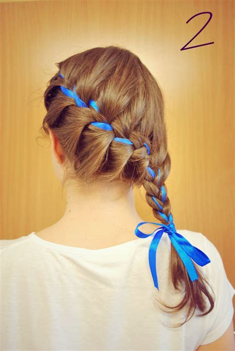 glue in french braids hair braid with ribbon ways to wear a hair ribbon long