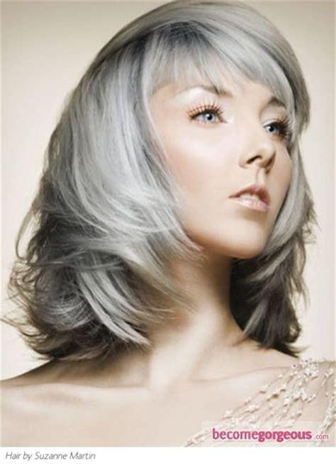 medium gray hair long bangs 194 best images about hair grey gray on pinterest