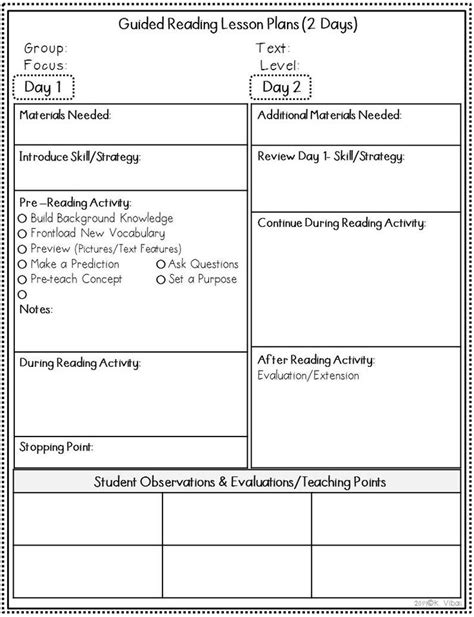Best 25 Guided Reading Lessons Ideas On Pinterest Reading Lessons Guided Reading Plan Reading Lesson Plan Template