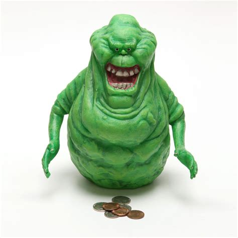 Glow In The Dark Wall Sticker ghostbusters slimer bank the green head