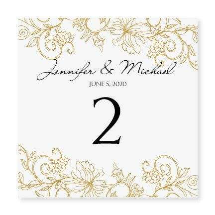 vintage templates for word instant download wedding table number card template