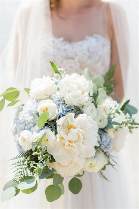 Wedding Bouquet Hydrangea And by Ivory Peony And Blue Hydrangea Bouquet Blue Hydrangea