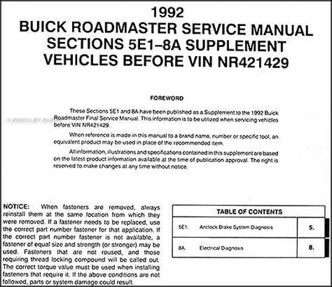 service manual 1992 buick coachbuilder fuse manual service manual repair manual download for