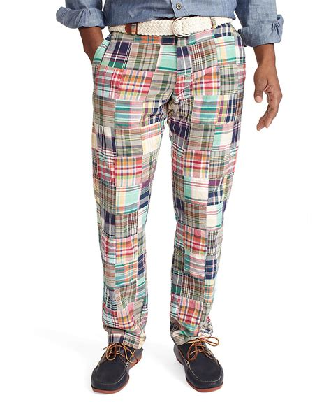 Madras Patchwork Shorts - brothers clark plainfront patchwork madras
