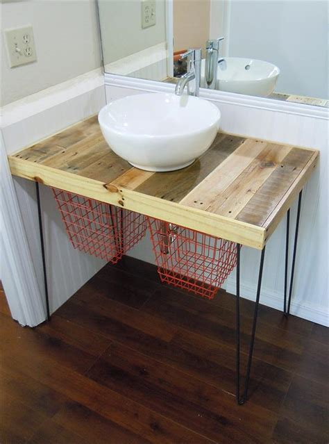 diy pallet wood vanity 101 pallets