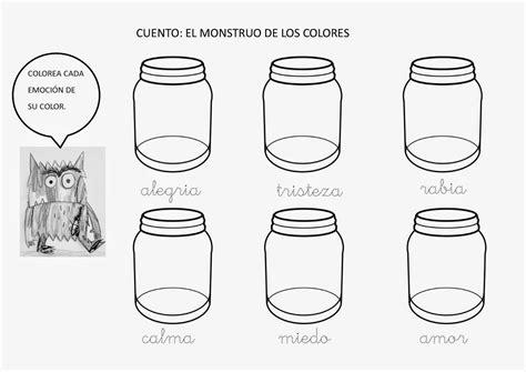 imagenes de la tristeza para colorear blog de 1 186 y 2 186 de primaria el monstruo de colores