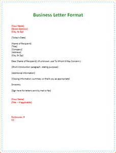 Business Letter Format Personal 12 Format Of Business Letters With Examples Incident