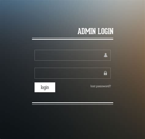 html templates for login pages http www freebiesgallery com admin login design
