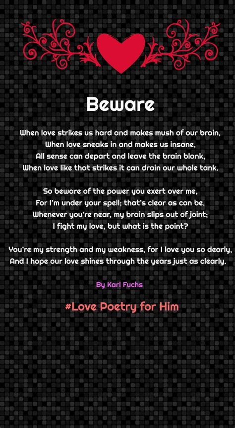 Troubled marriage poems for him
