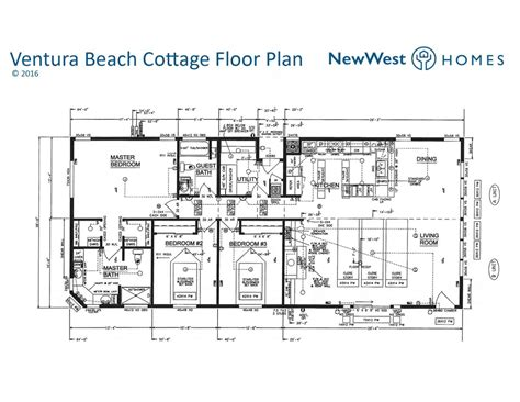 beach cabin floor plans ventura beach cottage open concept natural light design