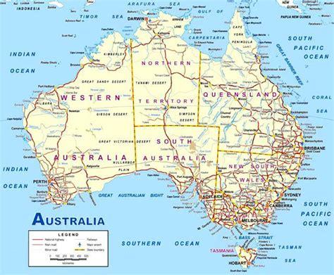 printable australia road map map of australia this detailed map of australia is
