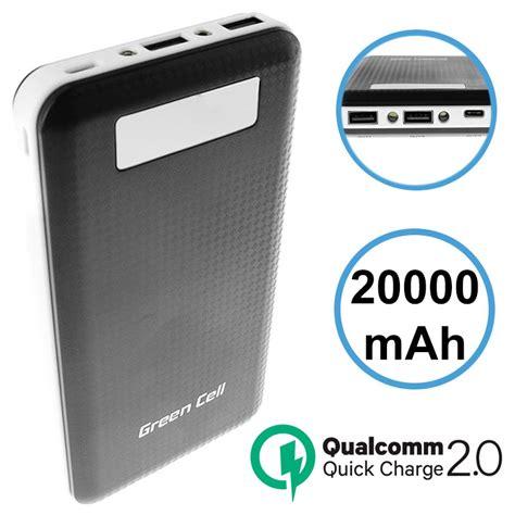 Power Bank High Quality Qc V3 Qualcomm 18 Watt 16000 Mah green cell pb93 qualcomm qc 2 0 powerbank 20000mah svart